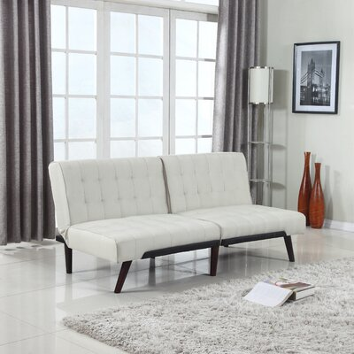Modern Convertible Sofa Color: Beige