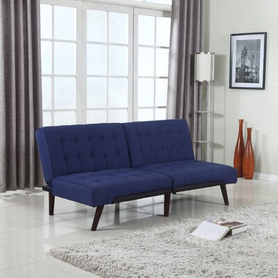 Modern Convertible Sofa Color: Blue