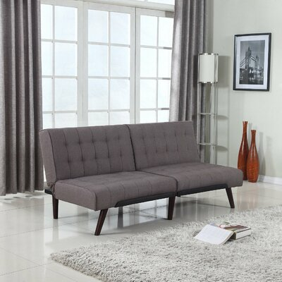 Modern Convertible Sofa Color: Gray
