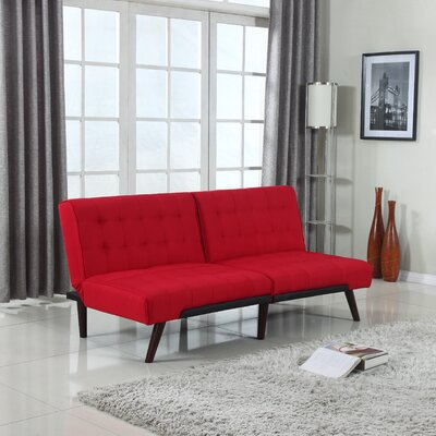 Madison Home USA EXP17-FB-NOARM-RED Modern Convertible Sofa