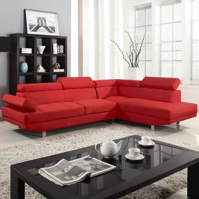 Madison Home USA EXP11-RED-FB Sectional