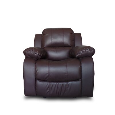 Classic Oversize and Overstuffed Manual Recliner Color: Brown
