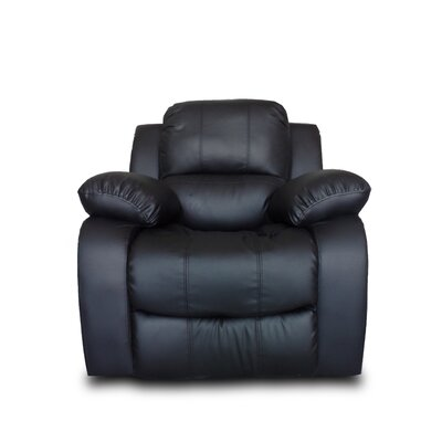 Classic Oversize and Overstuffed Recliner Color: Black
