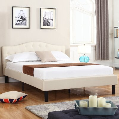 Classic Deluxe Platform Bed Size: Queen, Color: Ivory