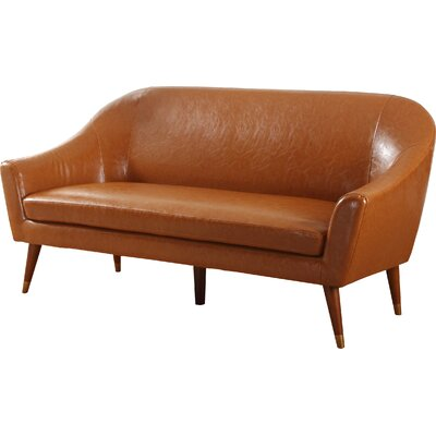 Mid Century Modern Sofa Upholstery: Camel