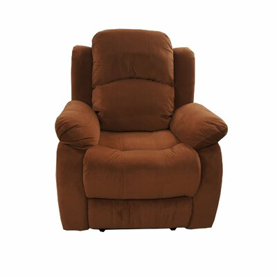 Traditional Brush Microfiber Recliner