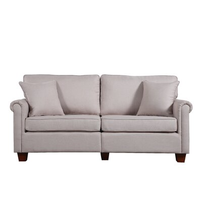 Classic Living Room Linen Fabric Sofa Finish: Beige