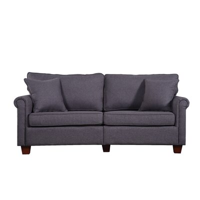 Classic Living Room Linen Fabric Sofa Finish: Dark Gray