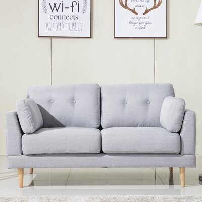 Loveseat Finish: Light Gray