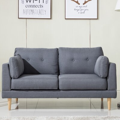 Loveseat Finish: Dark Gray
