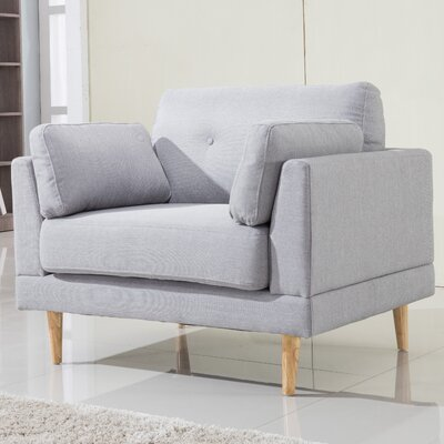 Ultra Plush Armchair Upholstery: Light Gray
