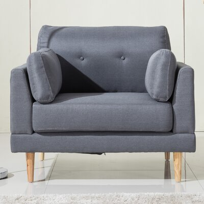 Ultra Plush Linen Fabric Armchair Upholstery: Dark Gray