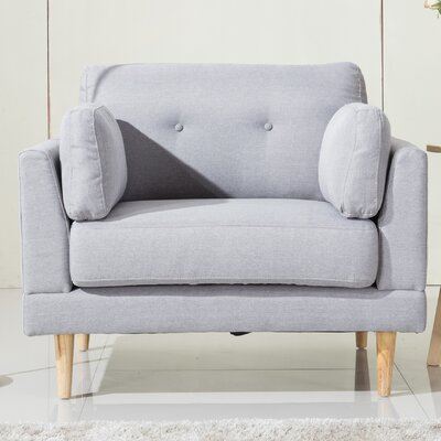 Ultra Plush Linen Fabric Armchair Upholstery: Light Gray
