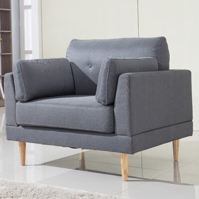 Ultra Plush Armchair Upholstery: Dark Gray