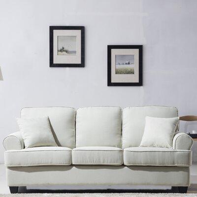 Classic Plush Sofa Upholstery: Beige