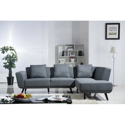 Sectional Upholstery: Dark Gray