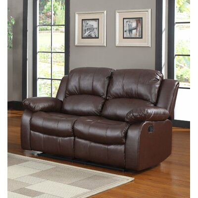 Leather Reclining Sofa Upholstery: Brown RECLINER-LS-BRWN