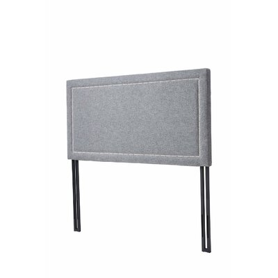 Upholstered Panel Headboard Size: Full, Upholstery: Gray