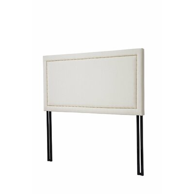Upholstered Panel Headboard Size: Full, Upholstery: Cream