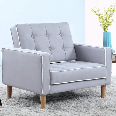 Mid Century Modern Fabric Living Room Armchair Color: Light Gray