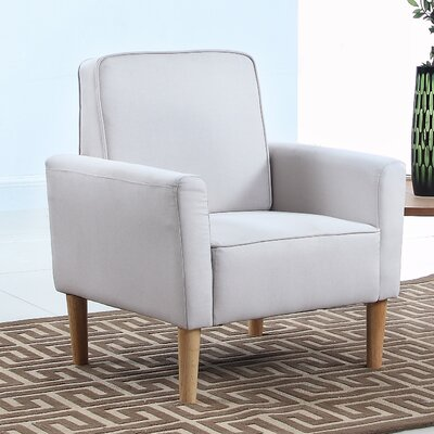 Mid Century Modern Fabric Living Room Armchair Color: Beige