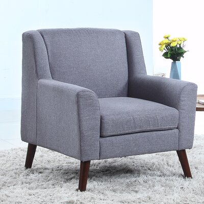 Mid Century Modern Fabric Living Room Armchair Color: Gray