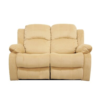 Reclining Loveseat Finish: Cream