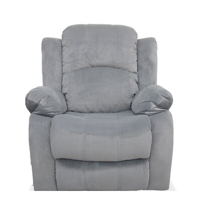 Manual Recliner Finish: Gray