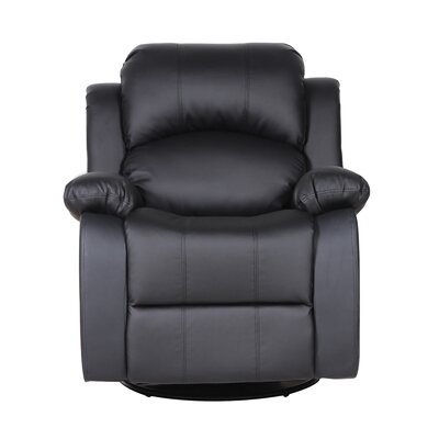 Rocker and Swivel Recliner Upholstery Color: Black