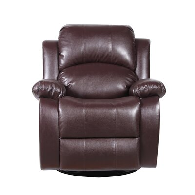 Rocker and Swivel Recliner Upholstery Color: Brown