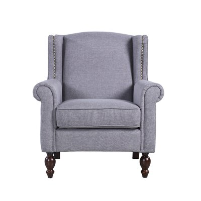 Classic Scroll Fabric Armchair Upholstery Color: Gray
