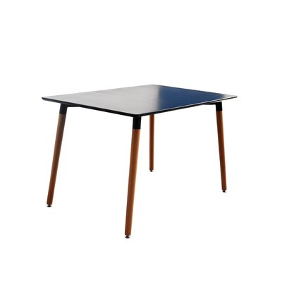 Modern Small Space Dining Table Finish: Black