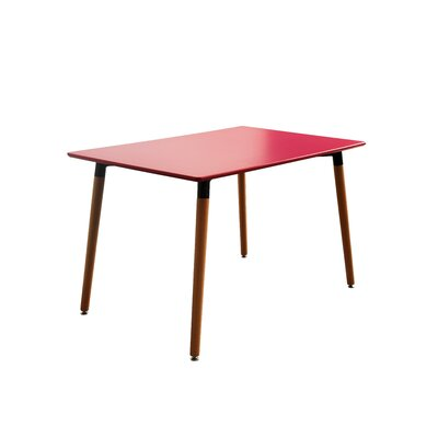 Modern Small Space Dining Table Finish: Red