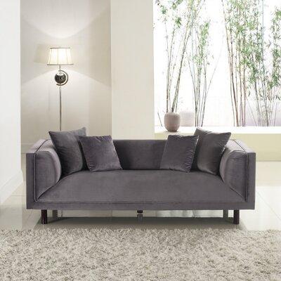 Mid-Century Modern Sofa Upholstery: Grey