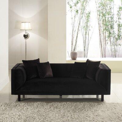 Mid-Century Modern Sofa Upholstery: Black