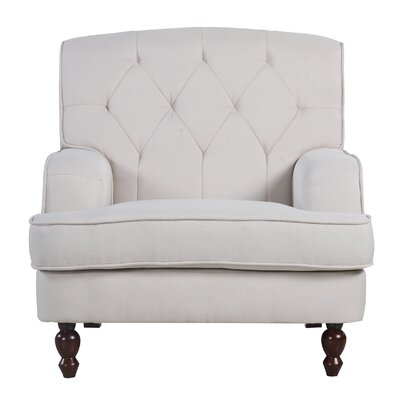 Modern Tufted Fabric Living Room Arm Chair Upholstery: Beige