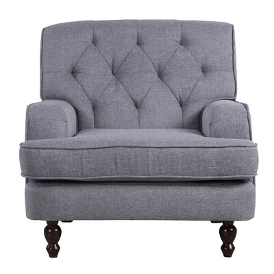 Modern Tufted Fabric Living Room Arm Chair Upholstery: Gray