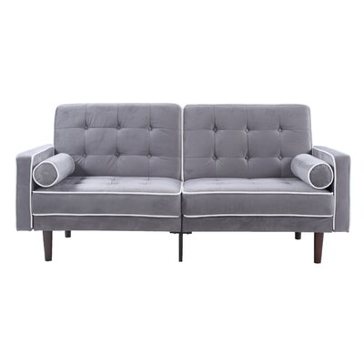 Mid Century Modern Convertible Sofa Finish: Gray