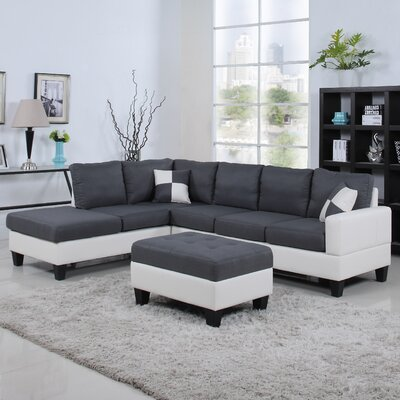 Reversible Sectional Upholstery: Dark Gray