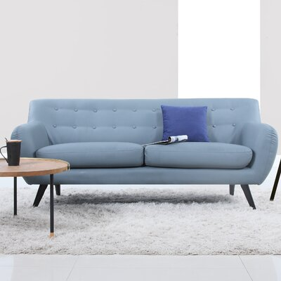 Mid Century Modern Tufted Sofa Upholstery: Grey