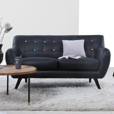 compare mid century modern tufted loveseat upholstery
