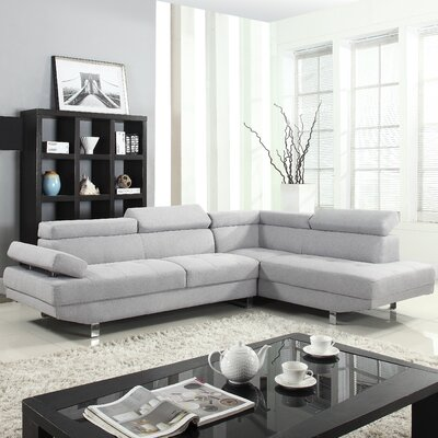 Reclining Sectional Upholstery: Light Gray