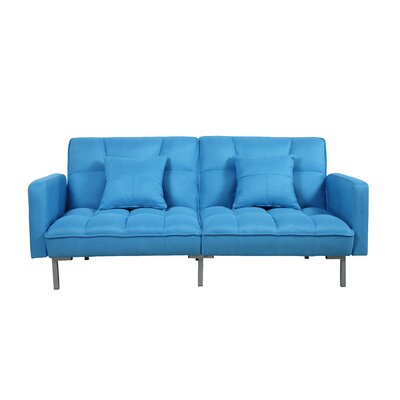Convertible Sofa Finish: Blue