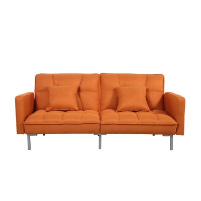 Convertible Sofa Finish: Orange