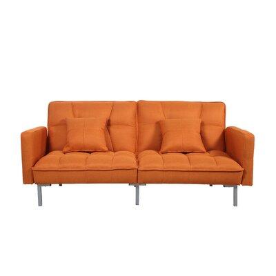 Convertible Sofa Finish: Orange