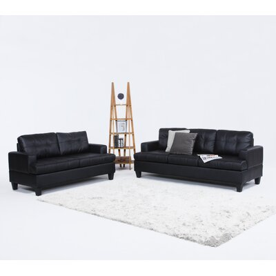 Madison Home USA EXP36-BLK Sofa and Loveseat Set