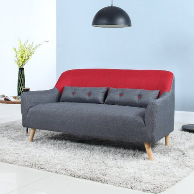 Loveseat Finish: Red