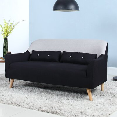 Loveseat Finish: Dark Grey