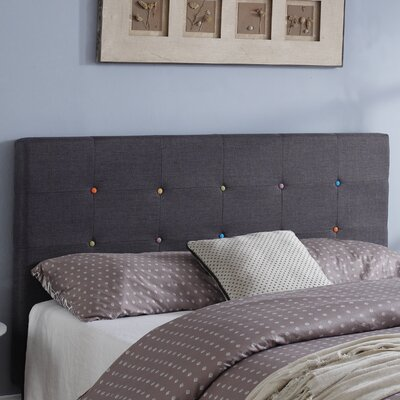 Classic Deluxe Upholstered Panel Headboard Size: King
