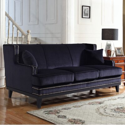 Sofa Upholstery: Black